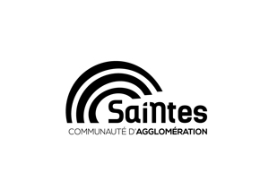 logo saintes communaute d'agglomeration noir